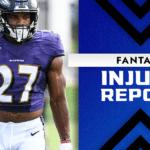 Fantasy Football Injury Report: J.K. Dobbins, T.Y. Hilton, Michael Thomas injury updates