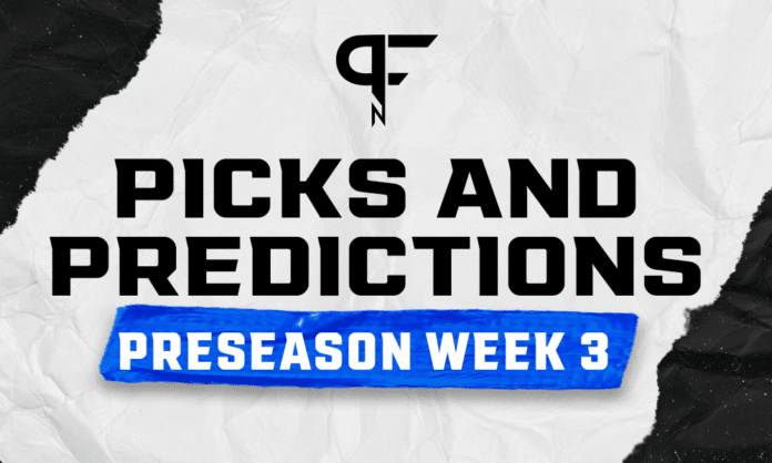 Free Week 3 NFL preseason picks and predictions against the spread