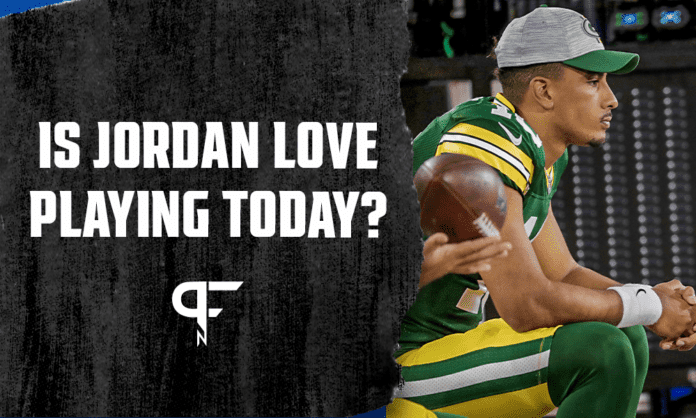 Is Jordan Love playing today vs. the Jets?