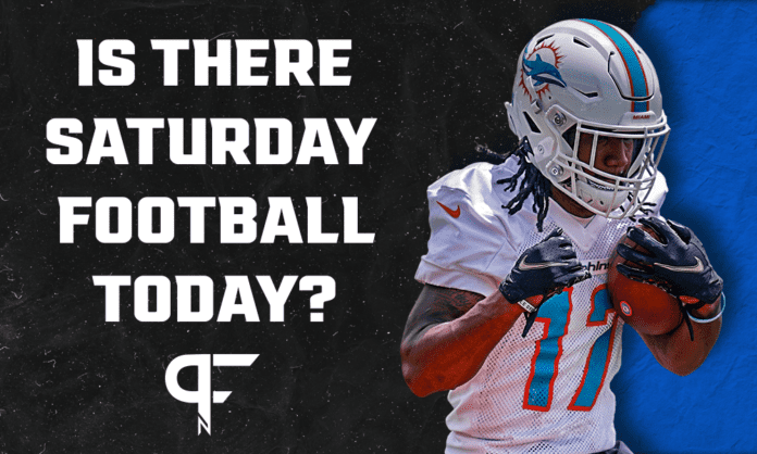 Are there Saturday football games today? NFL Preseason Week 1