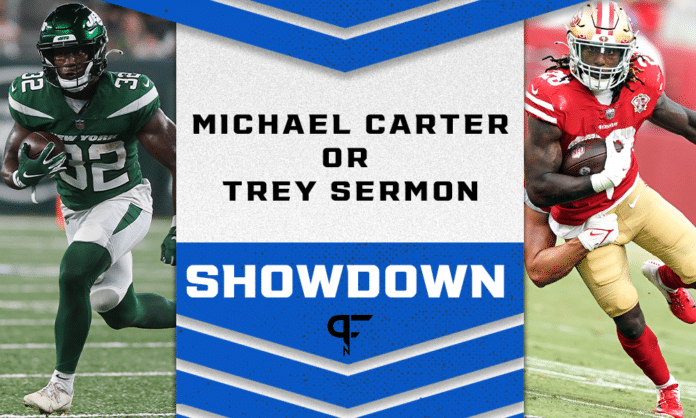 Michael Carter or Trey Sermon: Which rookie fantasy football RB should you target?