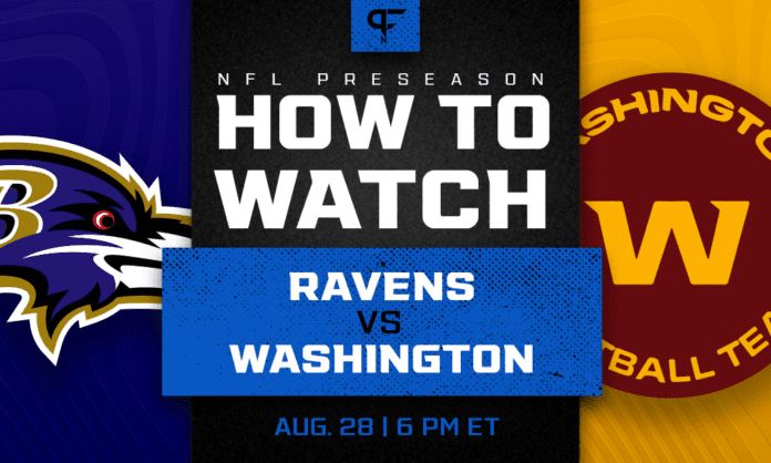 Ravens vs. Washington: How to watch, start time, odds, live streams, TV channel