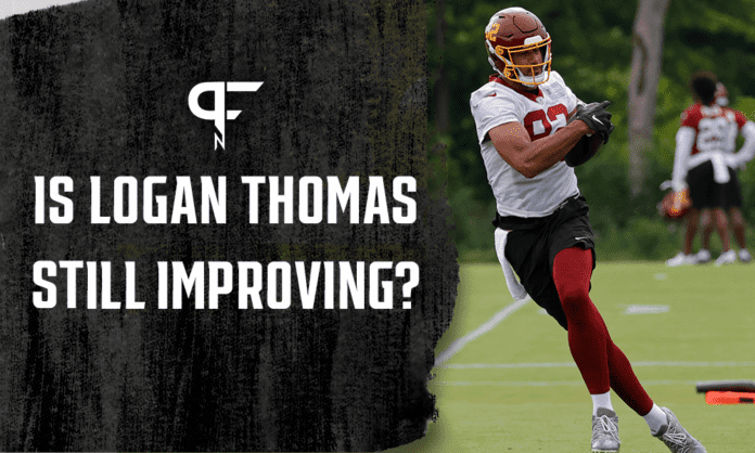 Breakout TE Logan Thomas still has room to improve in 2021