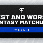 Best and worst fantasy football matchups for Week 1 NFL games