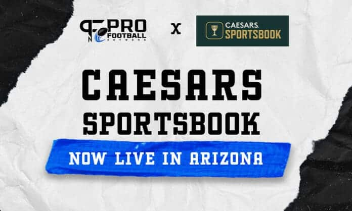 Caesars AZ Sportsbook Live $5,000 risk-free bet