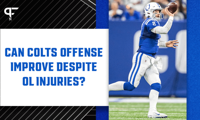 Can the Colts' offense improve despite offensive line injuries?