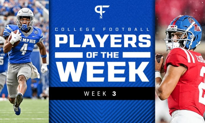 College Football Players of the Week: Matt Corral and Calvin Austin best of Week 3