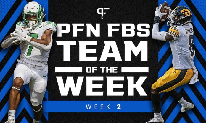College Football Week 2: Team of the Week honors