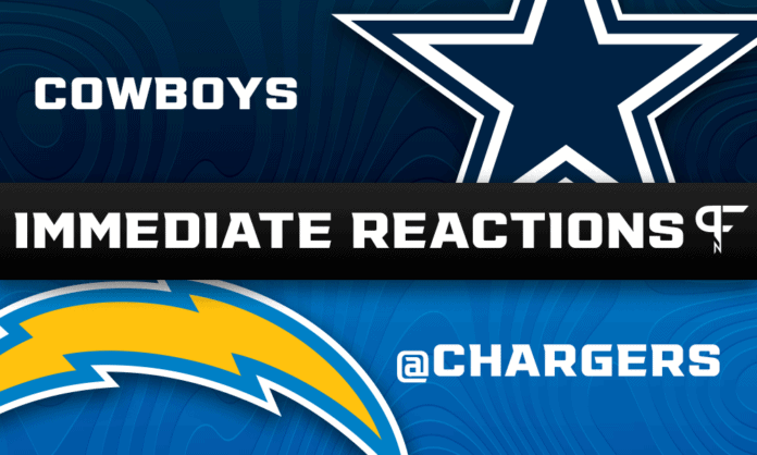 Cowboys vs. Chargers Highlights, Final Score: (insert)