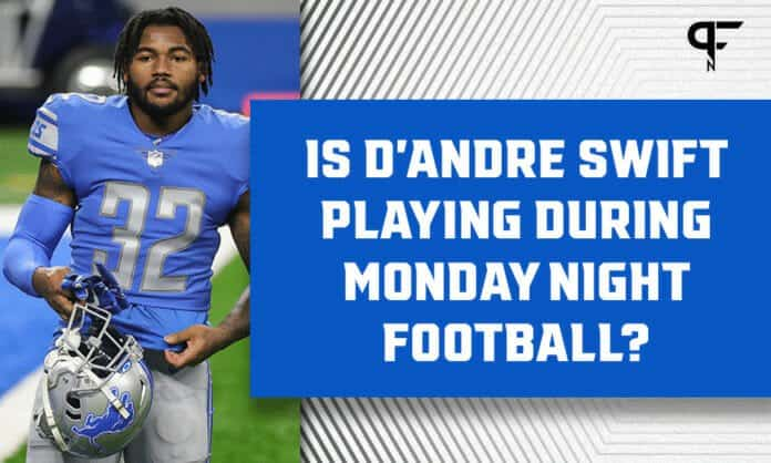 Is D'Andre Swift playing on Monday Night Football? Fantasy injury update for Lions vs. Packers