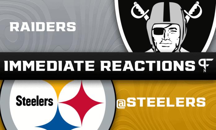 Las Vegas Raiders vs Pittsburgh Steelers - Immediate Reactions