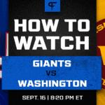 Giants vs. Washington odds, line, prediction for Thursday Night Football in Week 2