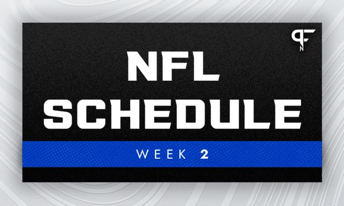 NFL Week 2 Schedule: Patriots, Bills travel after tough losses last week