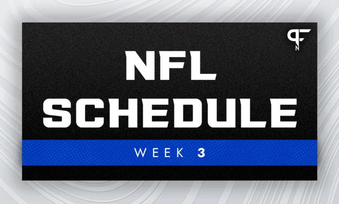 NFL Schedule Week 3: Buccaneers, Rams meet for NFC supremacy