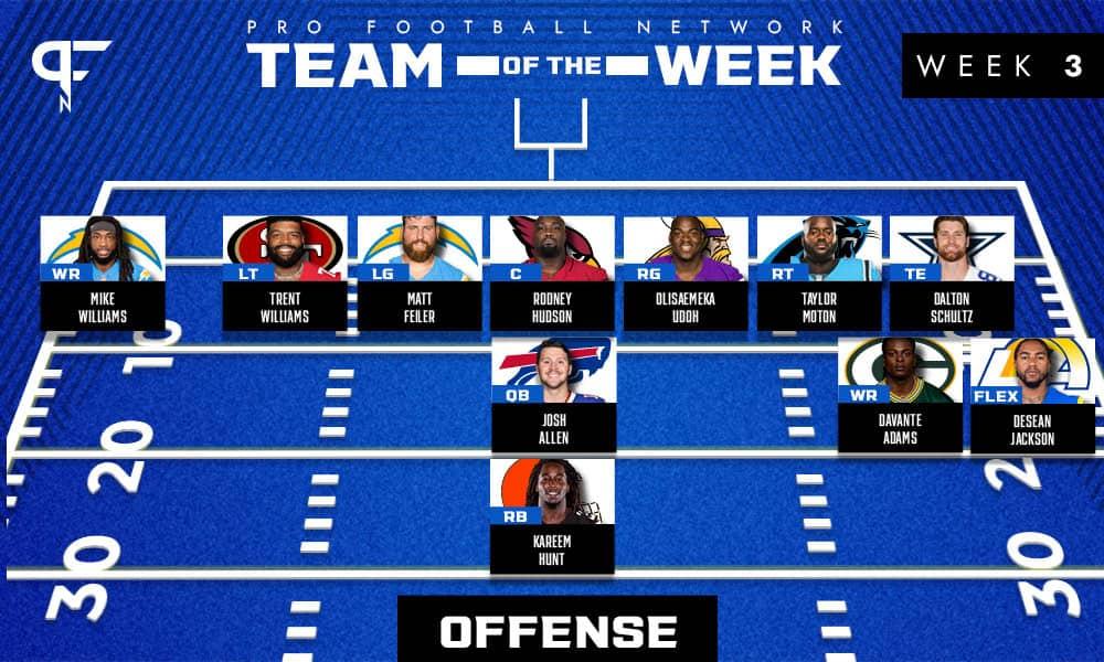 Week 3 NFL Team of the Week: All-star defensive linemen headline Week 3's best