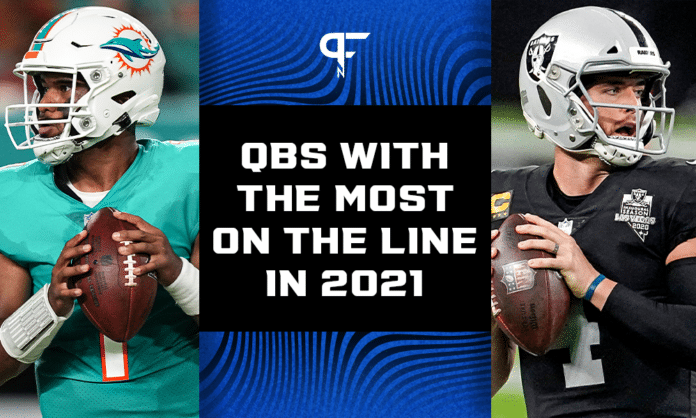 Five NFL quarterbacks with the most on the line in 2021