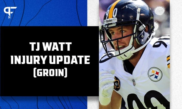 Steeleers' T.J. Watt questionable to return with a groin injury vs. Raiders