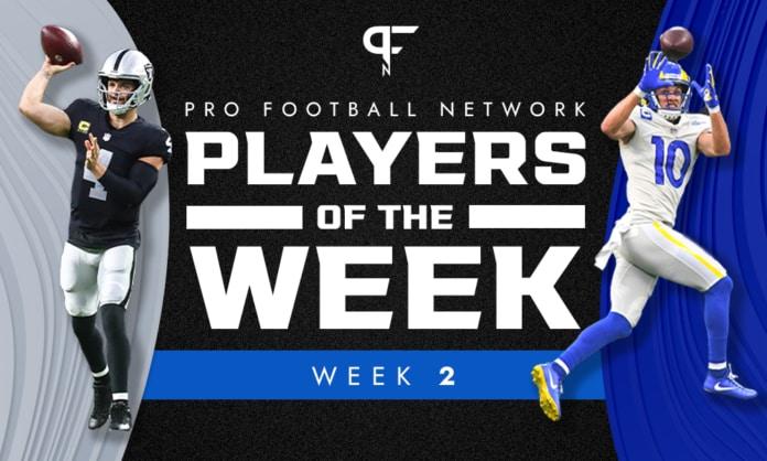 Week 2 NFL Player of the Week: Derek Carr, Cooper Kupp shine bright