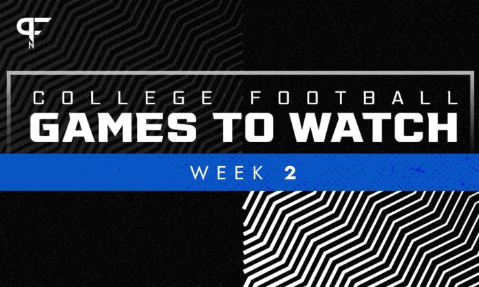 Week 2 college football games to watch this weekend