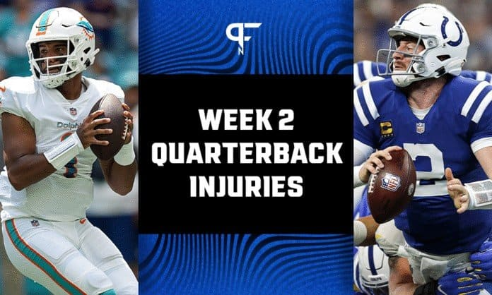 NFL Quarterback Injuries from Week 2: The latest on Tua Tagovailoa, Andy Dalton, Carson Wentz, and Tyrod Taylor