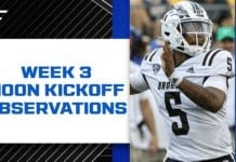 College Football Week 3: Observations and news from the noon slate