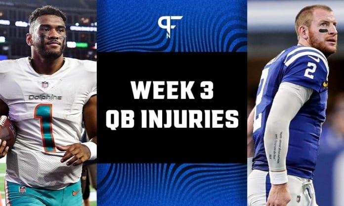 Latest on Tua Tagovailoa, Carson Wentz, Andy Dalton, and Derek Carr injuries heading into Week 3