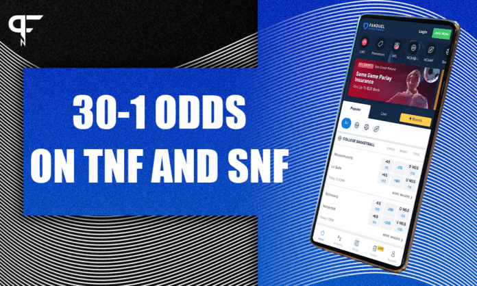 Bet NFL Week 2 prime time games at 30-1 odds with FanDuel Sportsbook