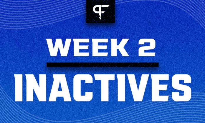 NFL Inactives Week 2