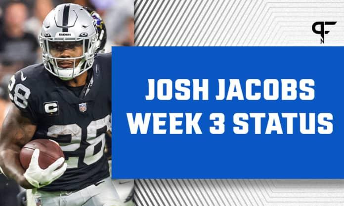 Josh Jacobs Injury Update: Will he play vs. Miami in Week 3?