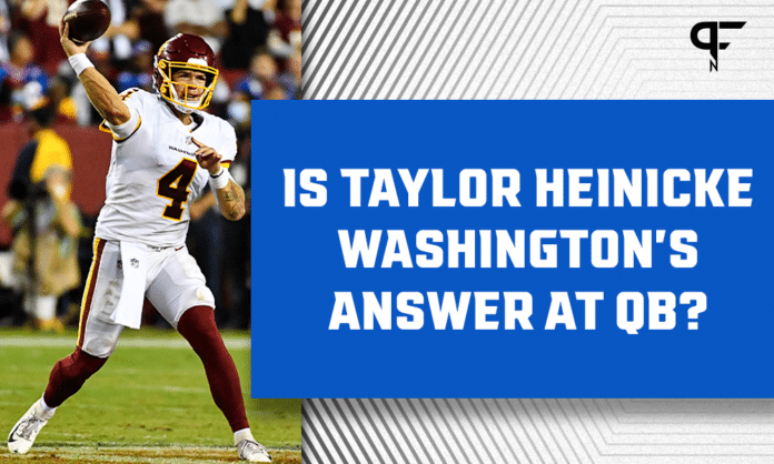 Taylor Heinicke: 5 throws answering whether he's Washington's long-term answer at quarterback