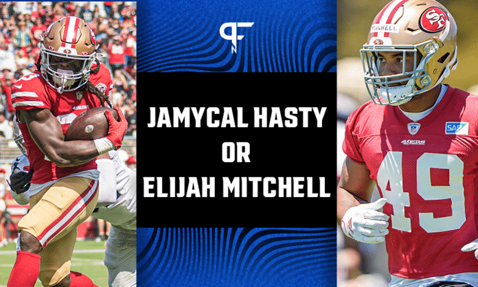 Trey Sermon inactive, will JaMycal Hasty and Eli Mitchell see more opportunities?