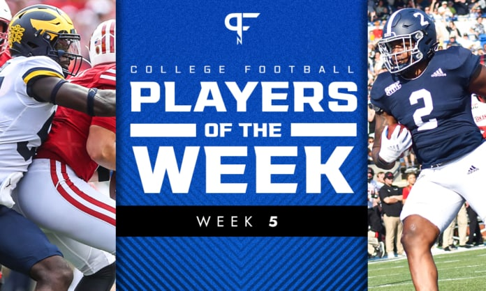 College Football Players of the Week: David Ojabo and Logan Wright best of Week 5