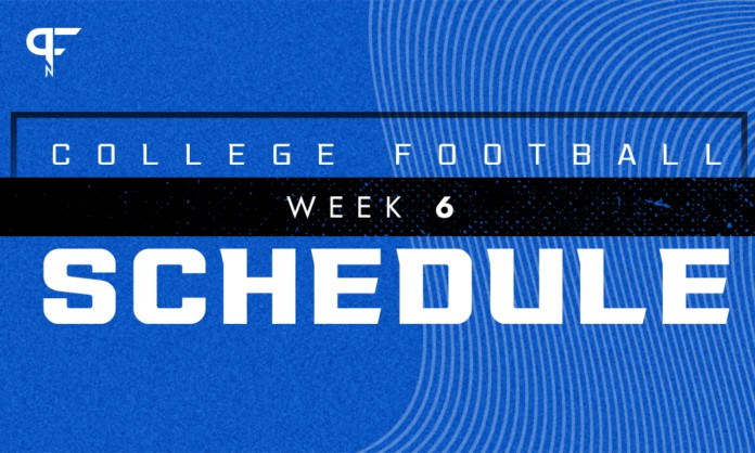 College Football Schedule Week 6: Oklahoma and Texas renew Red River Rivalry
