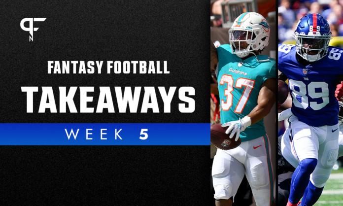 Fantasy Football Week 5 Takeaways: Myles Gaskin, Kadarius Toney, David Njoku post standout performances