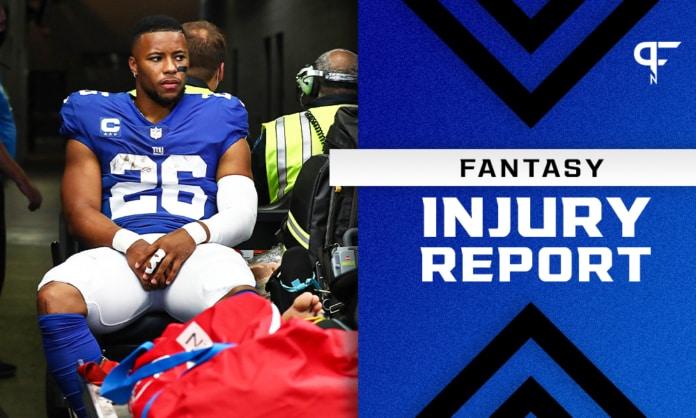 Fantasy Injury Report: Joe Burrow, Saquon Barkley, JuJu Smith-Schuster injury updates