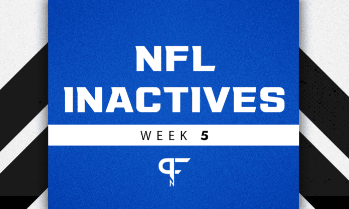 NFL Inactives Week 5: Calvin Ridley, Russell Gage inactive