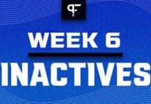 NFL Inactives Week 6: Nick Chubb, inactive this week
