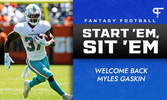 NFL RB Start 'Em, Sit 'Em Week 6: Welcome back Myles Gaskin