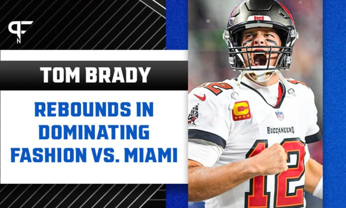 Tom Brady rebounds in dominating fashion vs. Miami in Week 5