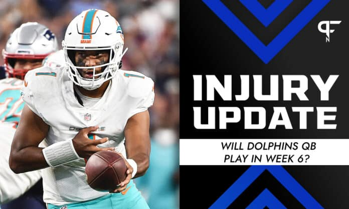 Tua Tagovailoa Injury Update: Will Dolphins QB play in Week 6?