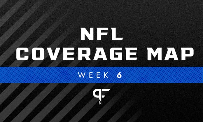 NFL Coverage Map Week 6: TV schedule for FOX, CBS broadcasts