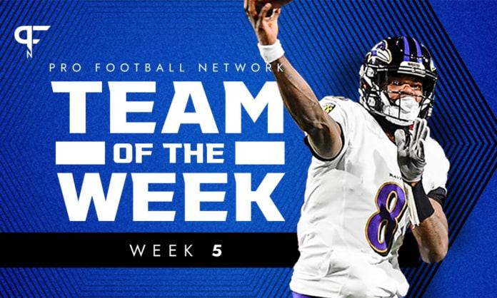 Week 5 NFL Team of the Week: Lamar Jackson dazzles on Monday night